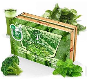 PÉ DE FRUTA - Polpa mista Gelo Verde / Couve, espinafre, brocólis e hortelã (400g)