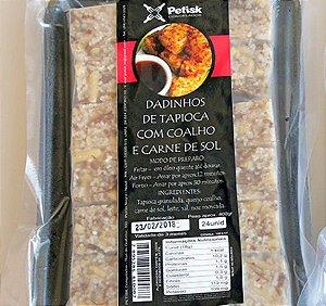 [PETISK] Dadinho de tapioca com queijo de coalho e carne de sol (24 unidades)