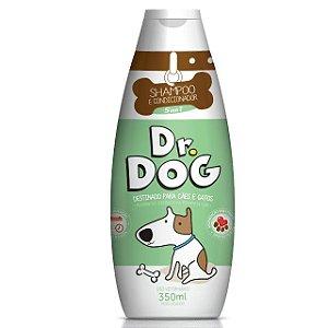 Shampoo e condicionador cães e gatos Dr. Dog 5x1 350ml hipoalergenico peles sensiveis