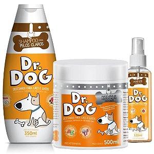 Kit banho em casa Dr. Dog Cães e Gatos com máscara de hidratação hipoalergênico