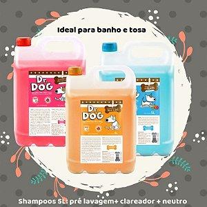 Kit Pré Lavagem 5L + Shampoo Clareador 5L + Neutro 5L para Petshop - 10% OFF
