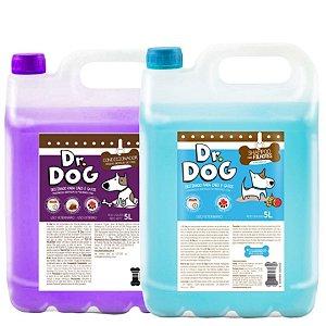Kit Banho & tosa Shampoo e Condicionador 5L Dr. Dog desmaio hipoalergenico