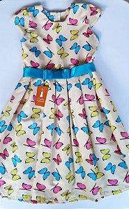 f10fc7683 vestido lindo festa borboletas - Castelo Caramelo