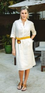 Vestido de Linho Off White