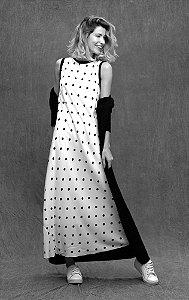 Vestido Bardot Regata Poa
