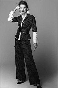 Blusa Tweed Cinza