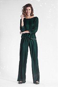 Blusa Veludo Verde