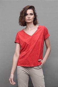 Blusa Suede Vermelha