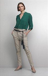 Camisa Malha Verde com Bolso