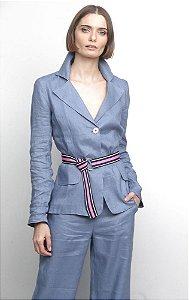 Blazer Melina Linho Azul