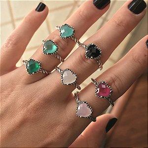 Anéis Inspired Coração Prata 925