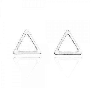 Brinco Triângulo Vazado M Prata 925