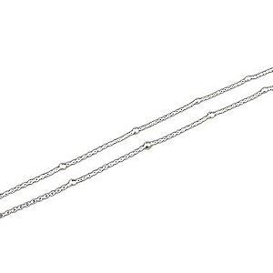 Corrente Bolinhas 45cm Prata 925