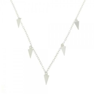 Gargantilha Triângulos Prata 925
