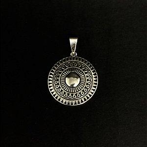 Pingente Mandala Escudo Prata 925