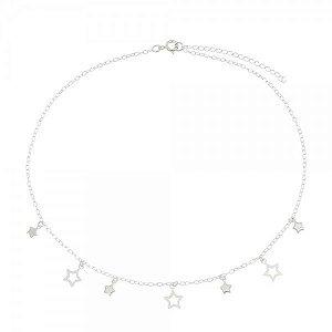 Gargantilha Estrelas Prata 925