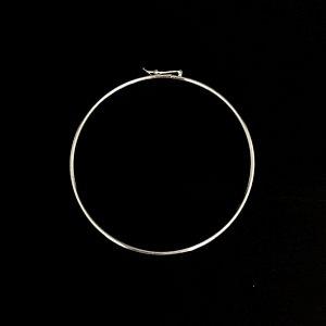 Pulseira Estilo Bracelete Redonda Prata 925