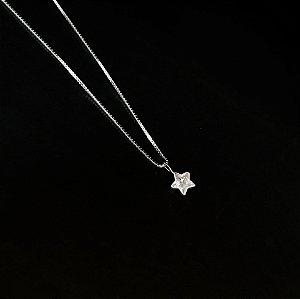 Colar Ponto de Luz Estrelinha Prata 925