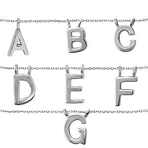 Colar Letras Prata 925