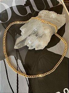 Corrente Groumet 40cm Prata 925 com Banho de Ouro