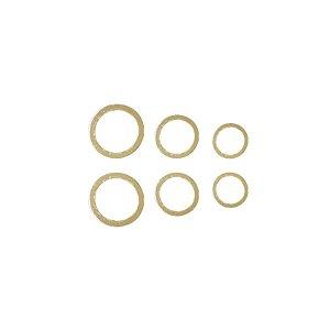 Trio de Círculos Vazado Prata 925 com Banho de Ouro
