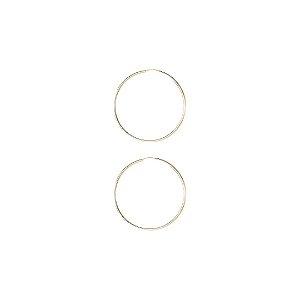 Par de Argolas de Fecho Embutido Prata 925 com Banho de Ouro