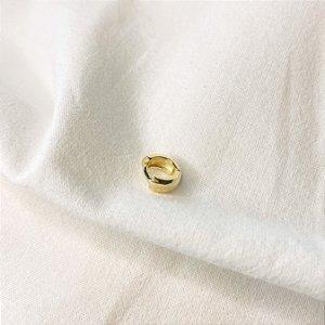 Argolinha Unitária 6mm Grossa Prata 925 com Banho de Ouro