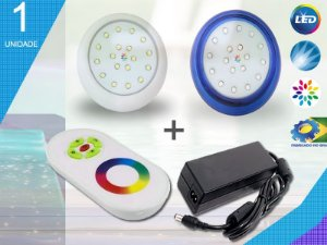 Kit Completo Iluminação Piscina Enertech LED RGB 1x18 Watts - 8 cm