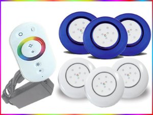 Kit Iluminação Piscina LED RGB 3x9 Watts - 12 cm