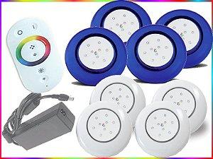 Kit Iluminação Piscina LED RGB 4x9 Watts - 12 cm