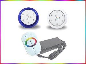 Kit Iluminação Piscina LED RGB 1x9 Watts - 8 cm