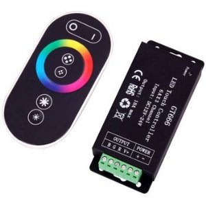 Controlador RGB Touch Series Premium 18A até 430 Watts - P/ Luminárias de Piscinas Colorida