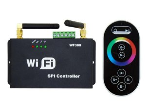 Controlador LED RGB Wifi SPI - WF300 Premium + Controle (black)