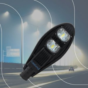 Luminária LASLED Pública Street Pétala 100 Watts - LED Chip Philips