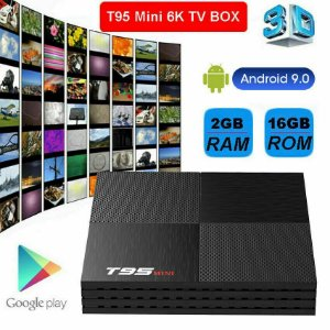 TV Box T95 Quad-Core 6K 2.4g Wifi Android 9.0 2GB/16GB 3D 2020