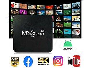 TV Box Smart 4GB MXQ Pro 2020 4K Digital 64GB WiFi 5G Android 10.1 - Pronta Entrega