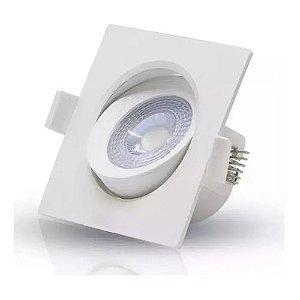 Spot Direcionável LED Quadrado 3 Watts  Bivolt - Amarelo e Branco
