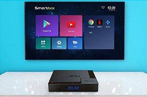 Tv Box X96 Mate 4GB/32Gb Android 10 Modelo 2020 Original Top - Pronta Entrega