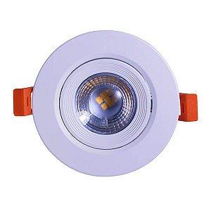 Spot LED Direcionável 5 Watts Redondo - Bivolt