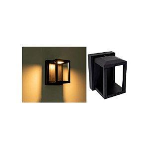 Arandela LED 7 Watts Retro Branca ou Preta IP65 - Bivolt