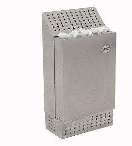 Sauna Seca Elétrica Inox SF 7.500w até 15m² - Bifásico ou Trifásico