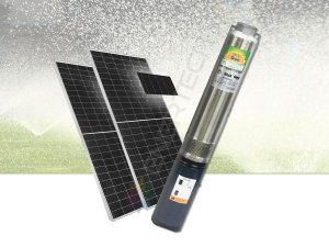 Kit Completo Bomba Solar Submersa Caneta 4 Pol. 500 Watts C/ Placas Solares  - Até 38 Metros