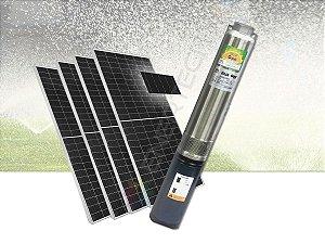 Kit Completo Bomba Solar Submersa Caneta 4 Pol. 1.000 Watts C/ Placas Solares  - Até 108 Metros