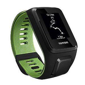 Relógio TomTom Runner 3 com Gps - à Prova d'água - Bluetooth - Preto e Verde Large