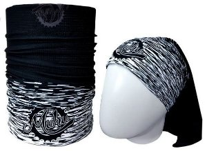 BANDANA TUBULAR MUHU |SOLID COLOR BLACK AND WHITE