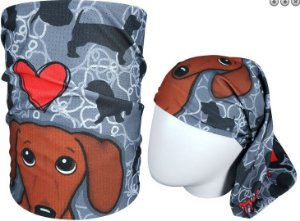 BANDANA TUBULAR MUHU |I LOVE DOG