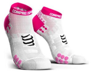 MEIA COMPRESSPORT RUN - BRANCA E ROSA