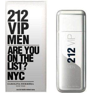 Perfume 212 Vip Men 100ml + Gel para banho 100ml Carolina Herrera Eau de Toilette Masculino
