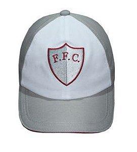 Boné Fluminense Cinza / Branco