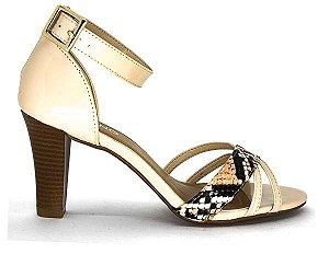 29969be9b Sapatilha Bag Shoes Suede Preto Glitter Ouro Via Uno - OUTLET VDTUDO